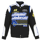 Jimmie Johnson JH Design Black 2016 Sprint Cup Champion Lowe's Cotton Jacket JH