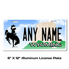 Personalized Wyoming License Plate for Bicycles, Kid's Bikes & Cars Ver 1