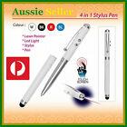 Stylus Pen Black Ink 4 in 1 LED Torch Light Red Laser Pointer PDA Presenter Aid
