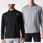 Adidas Golf SPORT 2017 Mens 3-Stripes French Terry Pullover 1/4 Zip Sweater Top