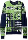Seattle Seahawks Patches Mens Ugly Sweater