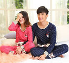 Lovely 100% Cotton 2pcs Lovers' Leisure Home Wear/ Pajama Sets M/L/XL/2XL