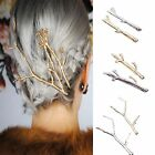 Metal Tree Branch Hairpins Gold Silver Hair Clip For Women Girl Bobby Pins 2PCS