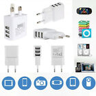 For Samsung iPhone Mobile Cell Phones 2 /3 Port Wall Charger EU/EU Plug 5V 3A
