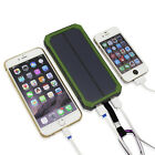 Waterproof 50000mAh 2 USB Solar Power Bank  6LED Battery Charger For Cell Phone