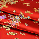 Brocade Jacquard Dragon Phoenix Chinese Wedding Clothes Damask Sewing Fabric