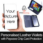 RFID Protected Personalised Wallet Leather Case Print Cover for Samsung Galaxy S