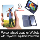 RFID Protected Personalised Custom Leather Wallet Print Cover for Apple iPhone