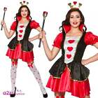 Womens Sexy Queen Of Hearts Adult Fancy Dress Costume Hen Storybook Fairytale