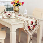 Vintage European Style Table Runner Tassel Embroidered Hollow Cloth Home Decor