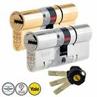 Yale Platinum High Security Euro Cylinder UPVC Door Lock  Anti Snap 3 Star TS007