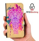 RFID Protected Indian Elephant PU Leather Wallet Custom Case Cover Apple iPhone