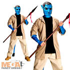 Deluxe Jake Sully Avatar Mens Adults Movie Film Fancy Dress Costume + Mask New