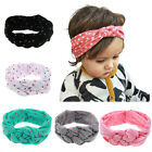 1 Pc Baby Girls Dot Twisted Turban Headband Elastic Cotton Bow Hair Bands