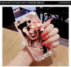 Luxury Diamond Bling Crystal Ring Holder Stand Kickstand Mirror Phone Case Cover