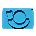 One-Piece Silicone Place Mat Food Plate Mat Divided Bowl Fit Baby Toddler Child