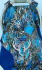Car Seat Infant Canopy Blue Camo Baby Cover Cozy Custom Embroidery True Timber