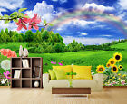 3D Grassland Rainbow 3065 Wallpaper Decal Dercor Home Kids Nursery Mural Home