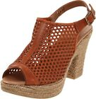 Eric Michael Fobo Jayden Women's Leather Espadrille Style Slingbacks Sandals