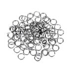 100Pcs Fishing Stainless Steel Split Round Ring Double Loop Lure Connector Gear