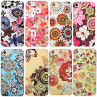 Flower Floral Pattern Cover F iPhone 5 5s 6 6s 7 Plus Case Soft Touch Shell Skin