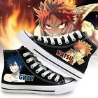 Fairy Tail Anime Natsu Lacing Up Ankle Sneakers Cosplay Canvas Shoes unisex