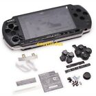for sony PSP 3000 Slim Full Housing Shell Case repair black sticker barcode lid