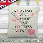 Personalised Mothers Day Birthday Gift, Amazing Mother Word Art Cushion For Mum