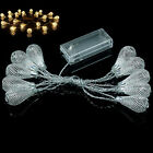 Fairy String Lights Warm White Battery Operated LED Strings Metal Wire Drops