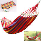 1 Set Canvas Outdoor Swing Fabric Camping Hanging Hammock Bed Quickly Install US