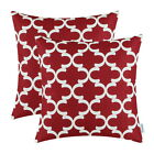 Pack of 2 CaliTime Throw Pillows Cases Cushion CoverS Quatrefoil Accent Geo 45cm
