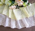 2 meters Pretty Pale Pink / Pale Yellow double mesh Lace Trim