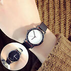 Women's Leather Watch Fashion Analog Gold Sand Casual Quartz Crystal Wristwatch