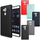 Shockproof Brushed Carbon Fiber Rubber Hard Case Cover For Huawei Honor 5X 6X