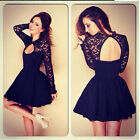 Kyпить Fashion Women Long Sleeve Lace Floral Mini Dress Party Cocktail Evening Dress на еВаy.соm