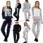 New Women Ladies Boy Bye Print Tracksuite Hoodie Top Joggers Loungewear Gym Set