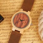 Carltys Natural Bamboo Wrist Watch. Leather Strap, Hand Made- Steampunk.