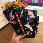 Luxury Rivet Lanyard lucky pattern TPU Phone Soft Case for iPhone 6 6s 7 Plus