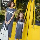 2017 Casual Family Matching Outfits Mother/Mom and Daughter T-shirt Dresses