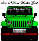 ONE NATION UNDER GOD DECAL STICKER CHRISTIAN LIFE MUD SALT JESUS USA GUNS GLORY