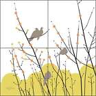 Ceramic Tile Mural Backsplash Evelia Morning Doves Bird Art OB-ES33b