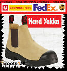 Hard Yakka GRIT Work Boots Wheat Elastic Sided Safety Steel Toe Y60087 ON SALE