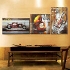 Wood 3D Wall Sculpture Art Painting Vintage Handmade Home Decor Rustic Design