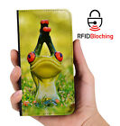 RFID Protected Frog Yoga PU Leather Phone Wallet Case Cover Samsung Galaxy