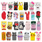 New 3D Various  Cute Cartoon Soft Silicone Case Cover Back Skin For iPhone