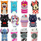 3D Cartoon Animals Soft Silicone Cover Case For iPhone Samsung J3 A5 J5 J7 2017