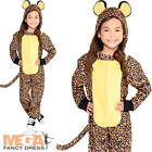 Leopard  Kids Fancy Dress Safari Zoo Animal Onesie Girls Boys Childrens Costume