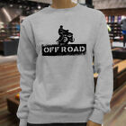 OFF ROAD STENCIL 4X4 DIRT QUAD MOTORBIKE BIKER Womens Gray Sweatshirt
