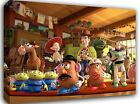 """Toy Story Kids Childrens Bedroom ~ 30x20"""" Canvas Wall Art Picture Print Framed"""