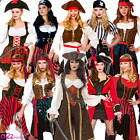 LADIES PIRATE CAPTAIN BUCCANEER SHIPMATE HEN PARTY ADULT FANCY DRESS COSTUME